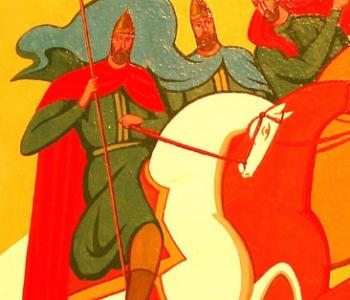 Выставка графики Василия Волкова «По мотивам русских героических былин»