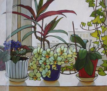 Выставка живописи и графики Дины Калинкиной «Мир за прозрачными занавесками»