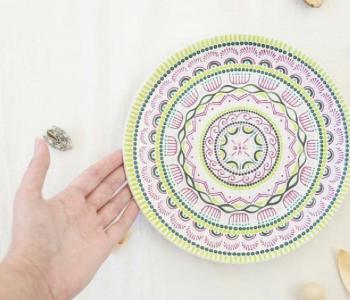 Мастер-класс по созданию тарелок в технике точечной росписи