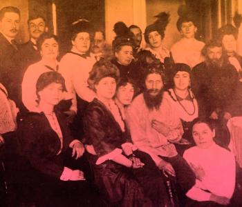 Лекция Михаила Зыгаря в пространстве выставки «Москва, 1917. Взгляд с Ваганьковского холма»