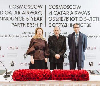 Cosmoscow и Qatar Airways объявили о 5-летнем сотрудничестве