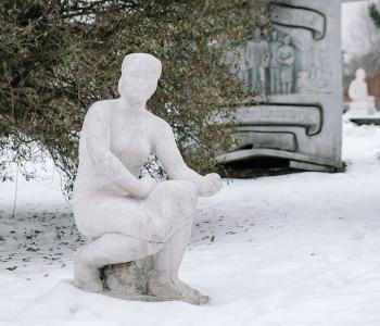 В парке Музеон отреставрировали скульптуру Анатолия Ронина