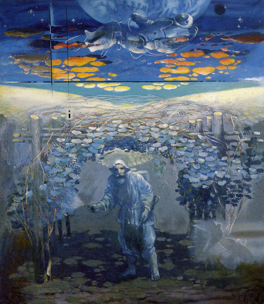 Выставка произведений Шалвы Бедоева и Олега Басаева