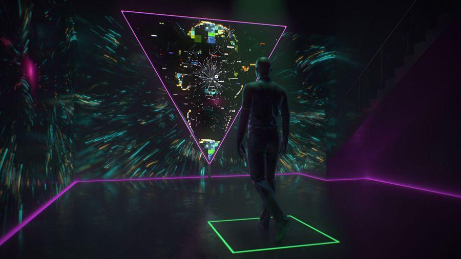 Интерактивная инсталляция HI, HUMAN
