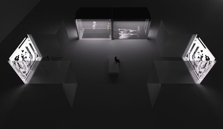 Мультимедийная инсталляция «INFODEMIА» арт-группы LINNK