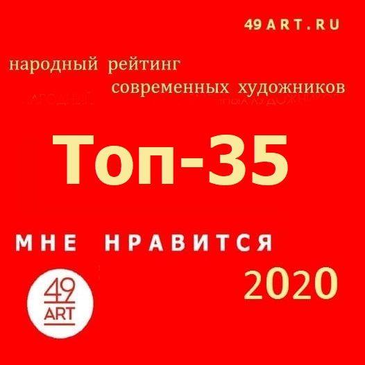 Опубликован арт-рейтинг Топ-35 популярных художников молодого поколения проекта 49ART