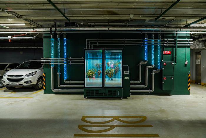 В «Зарядье» на подземной парковке появилась масштабная site-specific инсталляция Марины Звягинцевой