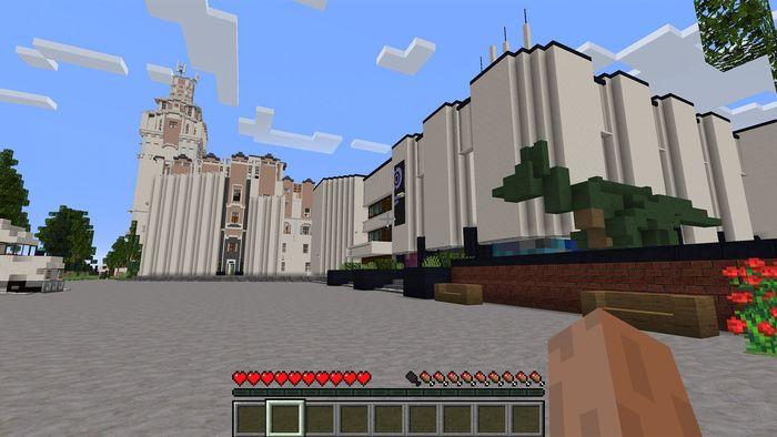 """В Minecraft появилась виртуальная модель Дарвиновского музея и цифровая копия выставки """"Русский палеоарт"""""""